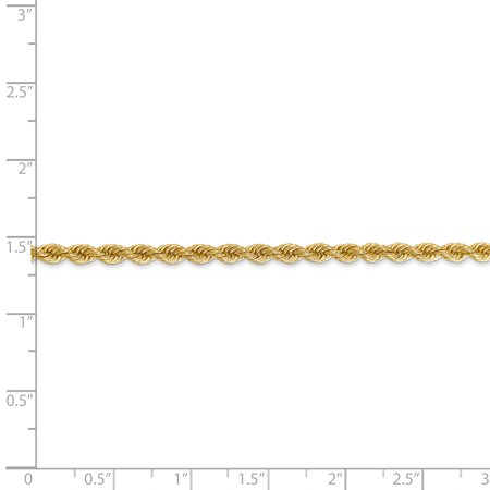 14k Yellow Gold 3mm Link Rope Chain Necklace 20 Inch Pendant Charm Fine Jewelry Gifts For Women For Her - image 5 de 9