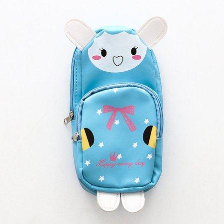 TURNTABLE LAB Nice Panda Rabbit School Kids Student Pen Pencil Case Makeup Beauty Pouch Bag