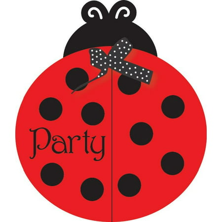 Access Ladybug Fancy Invitation Card, 8 Ct - Ladybug Birthday Party Invitations