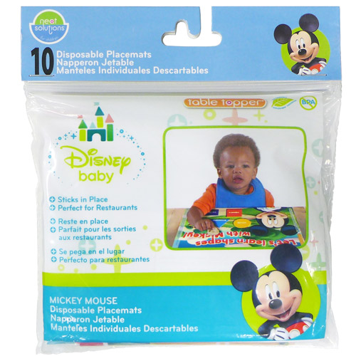 Neat Solutions Disney Mickey Mouse Disposable Placemat, 10-Count