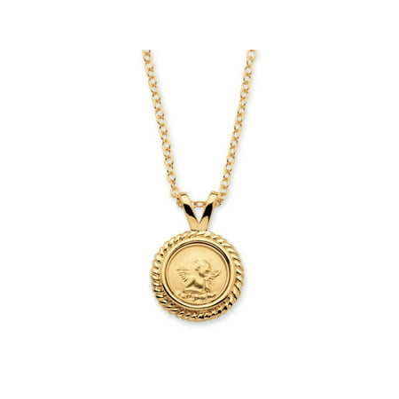 Dogeared Angel Necklace - Guardian Angel Charm Necklace 14k Yellow Gold-Plated 18