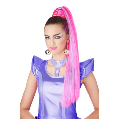 Cosmic Pink and Purple Ponytail by California Costumes 70726 - Halloween Pony Tails
