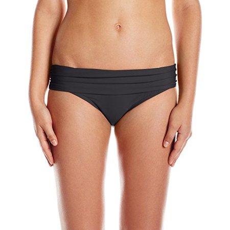 - Athena Women's Cabana Solids Lani Banded Bikini Bottom Black SZ: XL