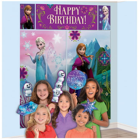 Frozen Scene Setter with Photo Booth Props (Jungle Scene Setter)