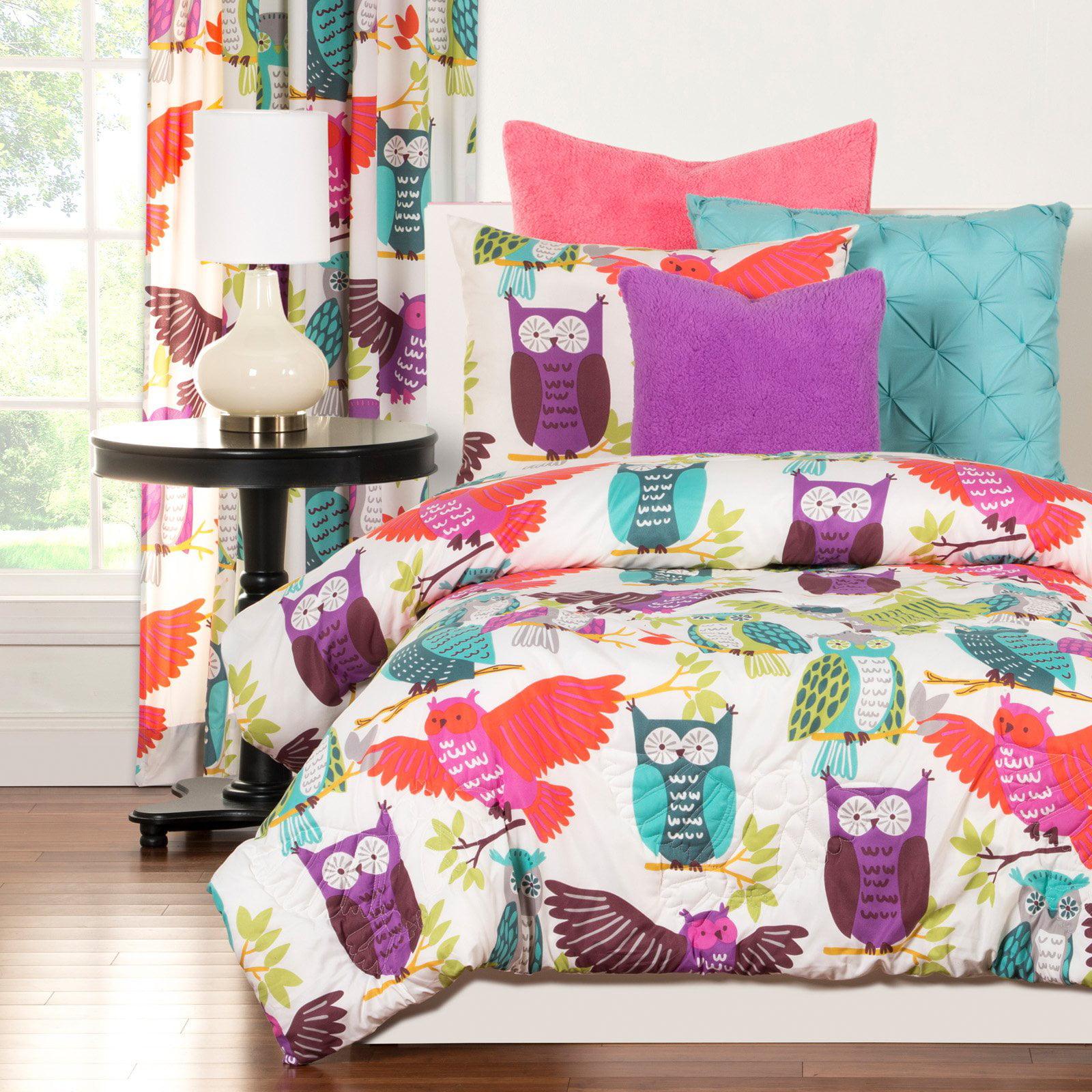 Crayola Owl Always Love You Twin Comforter Set