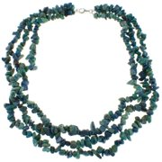 Pearlz Ocean  Azurite Triple Strand Chip Necklace
