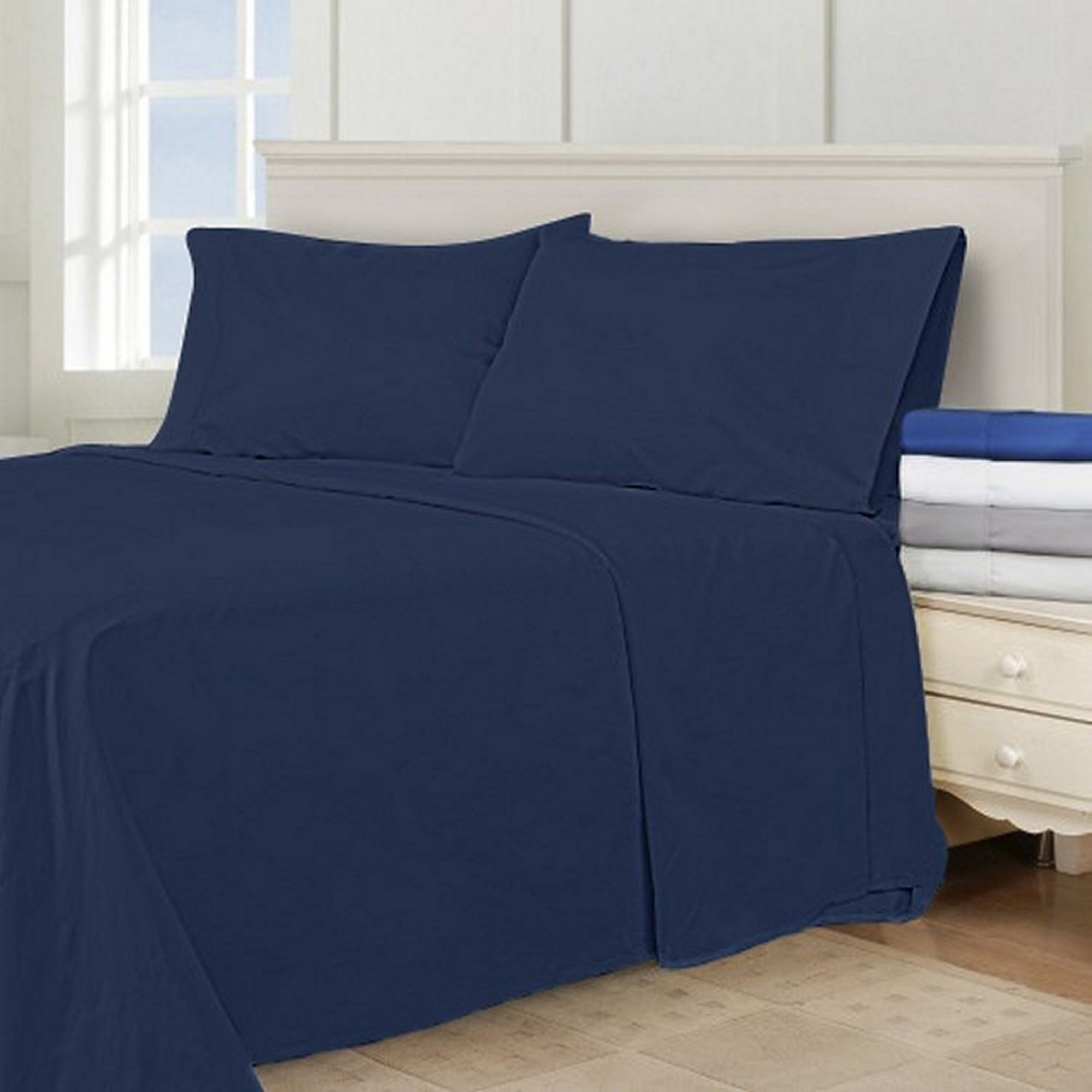 "Super King California King Oversized 3 Piece Duvet Cover Set (120"" x 98"")"