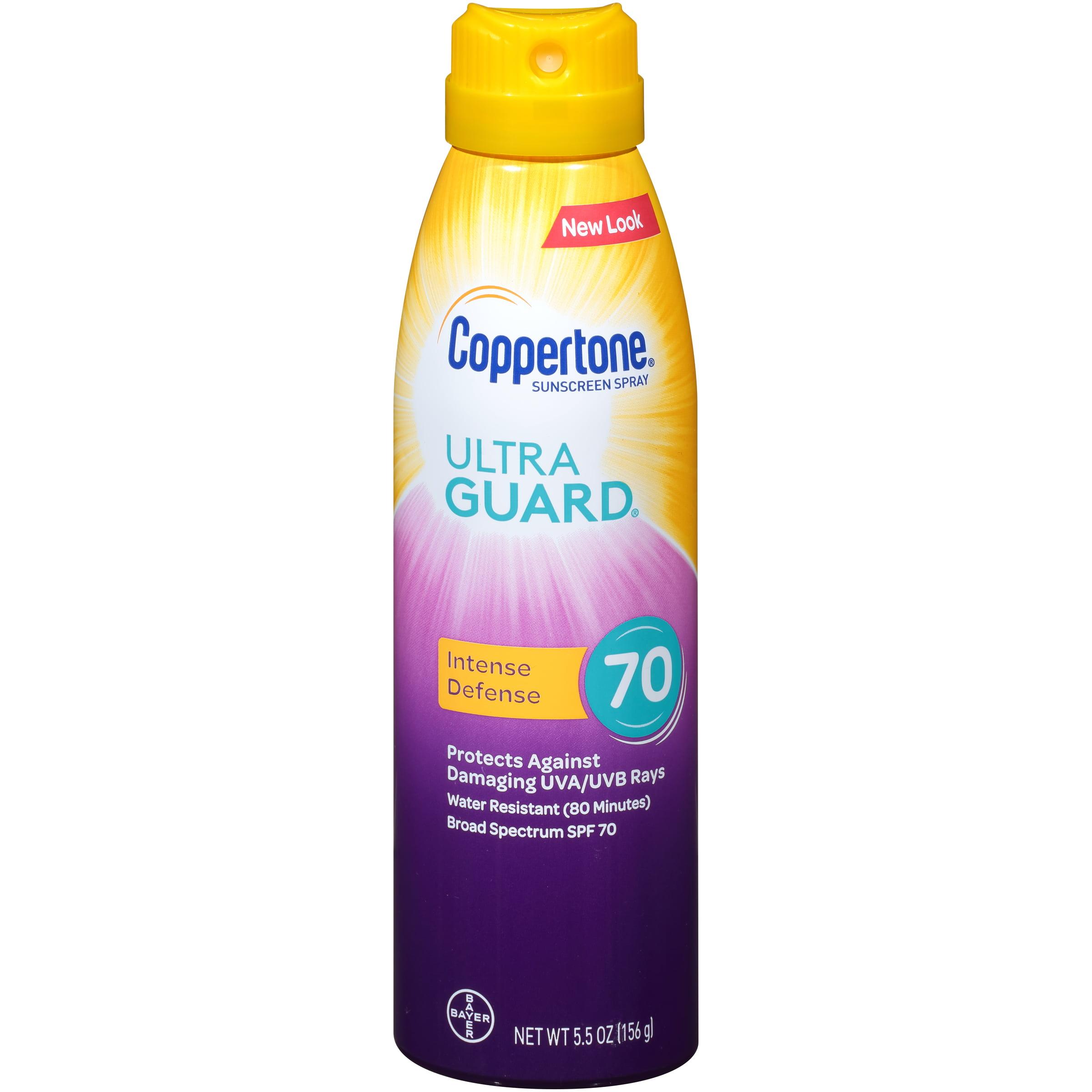 Coppertone Ultra Guard Sunscreen Continuous Spray SPF 70, 5.5 oz
