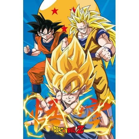 Dragonball Z- Gokus Evo Poster - 24x36 (Goku Super Saiyan Poster)