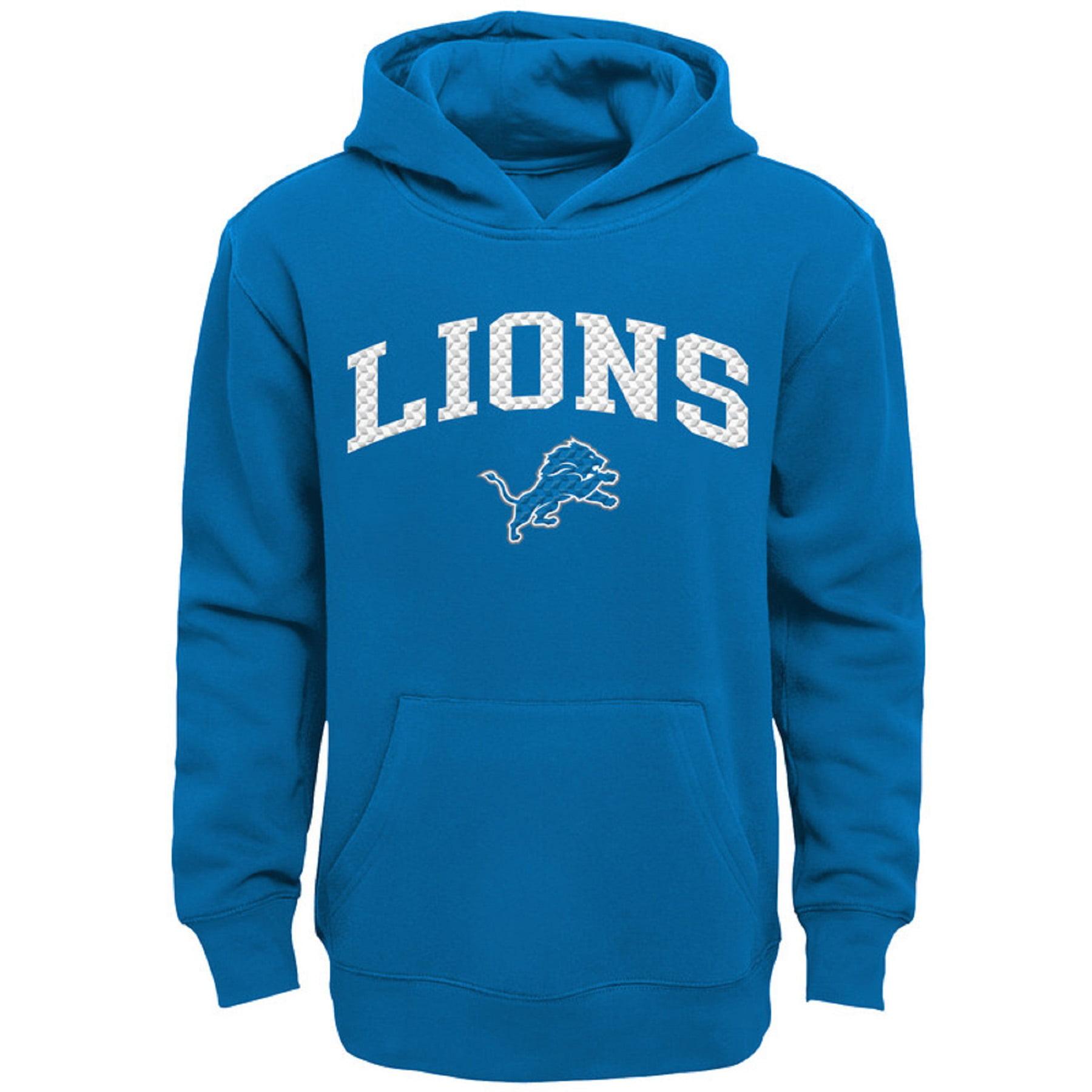 online store 1adf1 58ed4 Youth Blue Detroit Lions Clear Gel Fleece Hoodie
