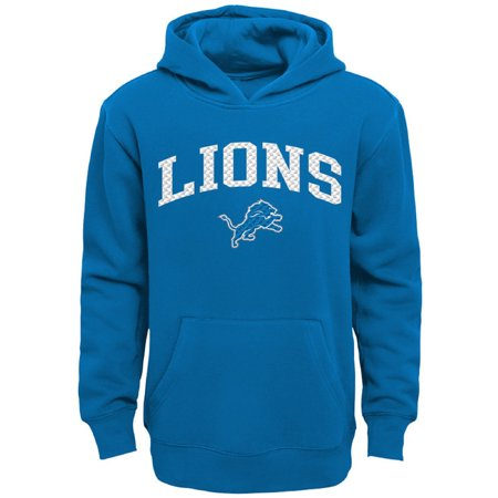 online store cc6c7 03ed0 Youth Blue Detroit Lions Clear Gel Fleece Hoodie