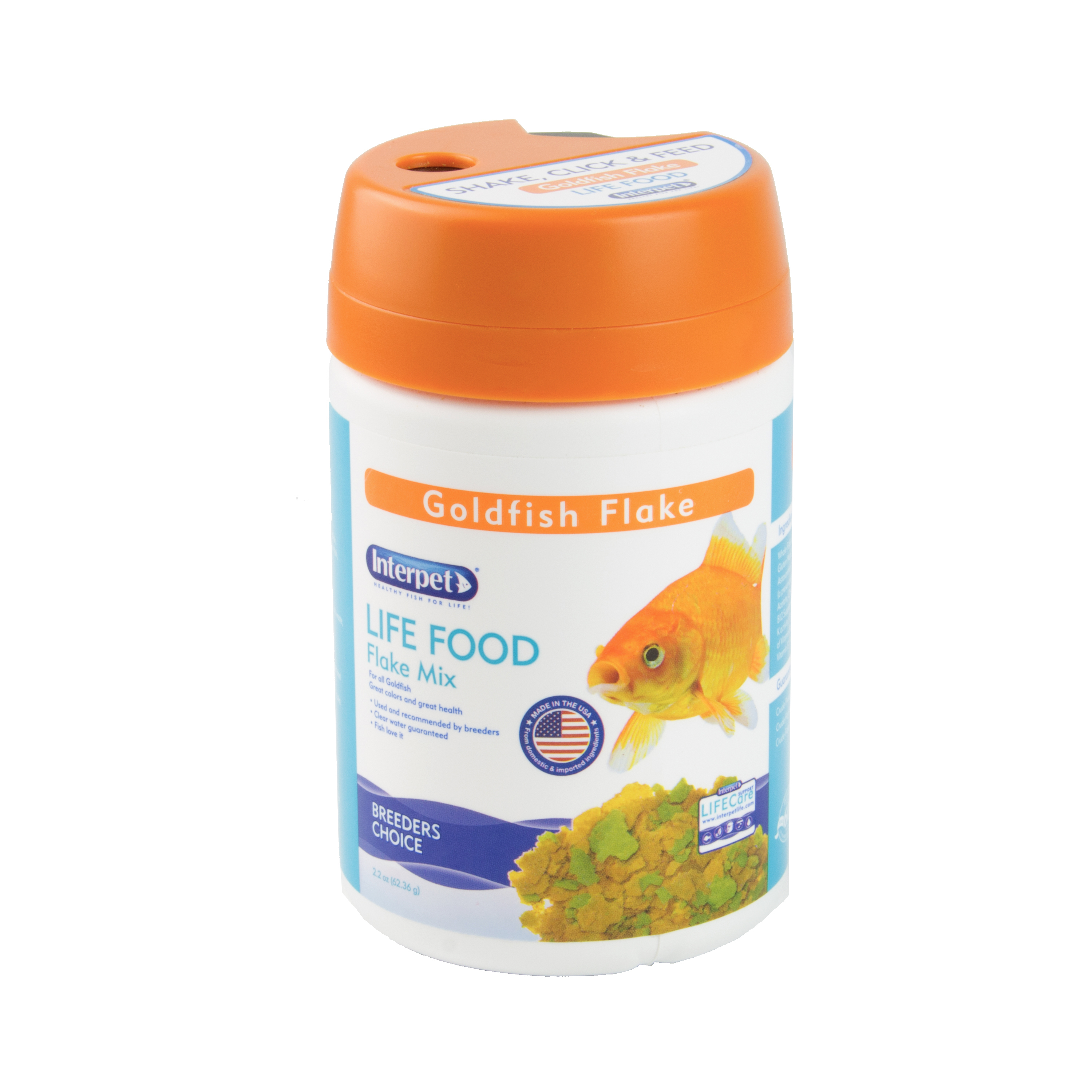 Interpet LIFE FOOD Goldfish Fish Food Flakes, 2.2oz by Central Garden and Pet