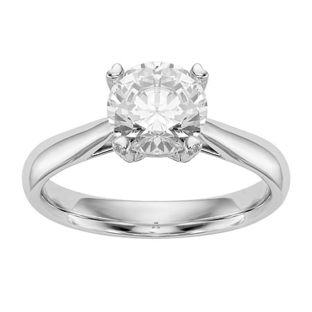 Lover Radiant Ring (Radiant Fire® Certified Lab Grown 3/4 Ct Round Diamond Solitaire Engagement Ring, SI1/SI2 clarity, G H I color, in 14K Yellow)