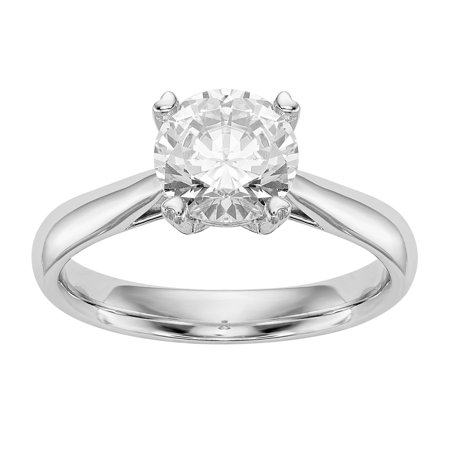 (Radiant Fire® Certified Lab Grown 3/4 Ct Round Diamond Solitaire Engagement Ring, SI1/SI2 clarity, G H I color, in 14K Yellow Gold)