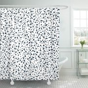 KSADK Speck Random Dots Monochrome Dotted Dalmatian Fleck Black Sand Abstract Space Cereal Shower Curtain 66x72 inch