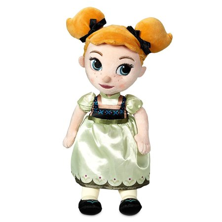 Disney Animators Collection Anna Plush Doll Figure Toy - Frozen - Small 13'' Movie Merchandise Animated Film Collectible