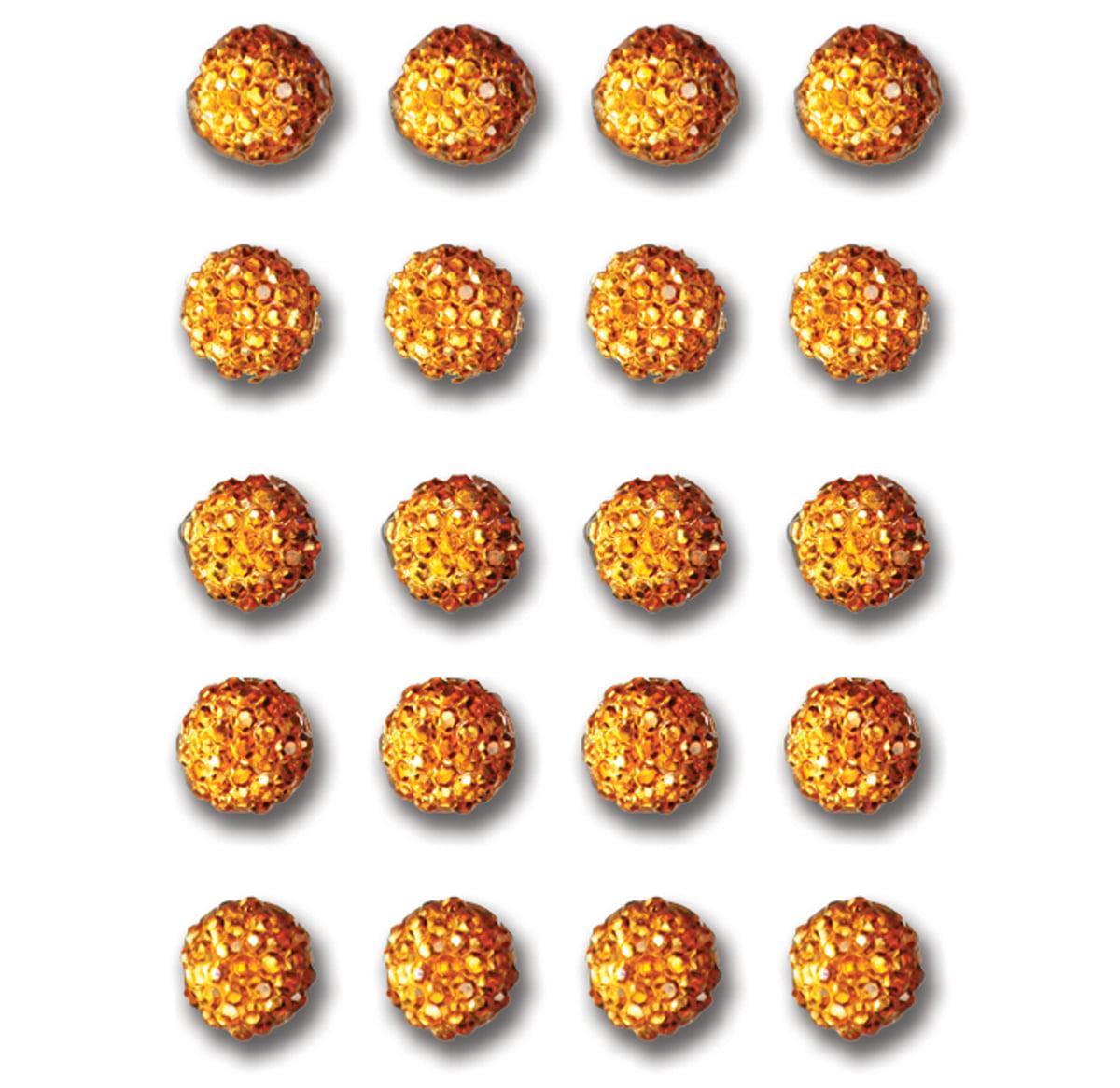 Twinkle Goosebumps Self-Adhesive Dots 6mm 20/Pkg-Orange
