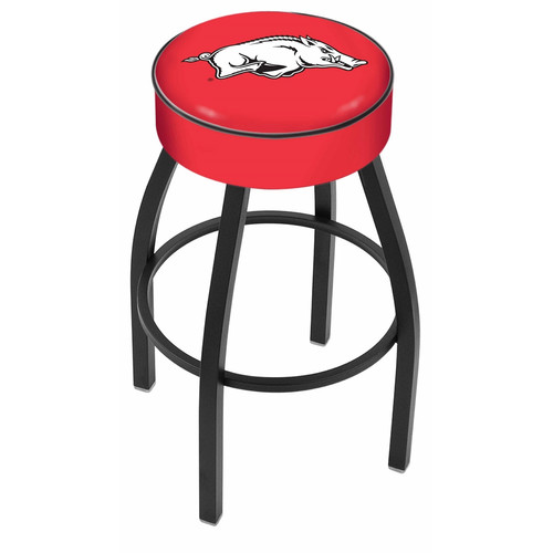 Arkansas 25 Inch L8B1 Black Bar Stool