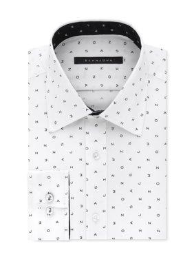 Sean John Mens Logo Button Up Dress Shirt