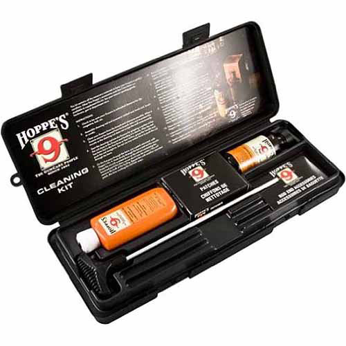 Hoppe's Pistol Cleaning Kit with Aluminum Rod, .38/.357/9mm Caliber
