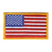 HEROS PRIDE 0003HP Embroidered Patch,U.S. Flag,Dark Gold