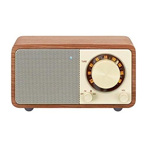 Mini Bluetooth Speaker with FM Radio Walnut