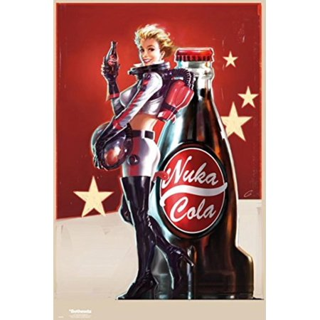 Fallout 4 - Gaming Poster / Print (Nuka Cola Girl - Cola Ad / Space Suit) (Size: 24