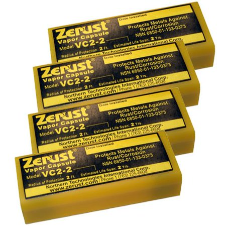 VC2-2 NoRust Vapor Capsule - Pack of 4, Use Zerust No Rust Vapor Capsules for Gun Rust Protection During Storage By
