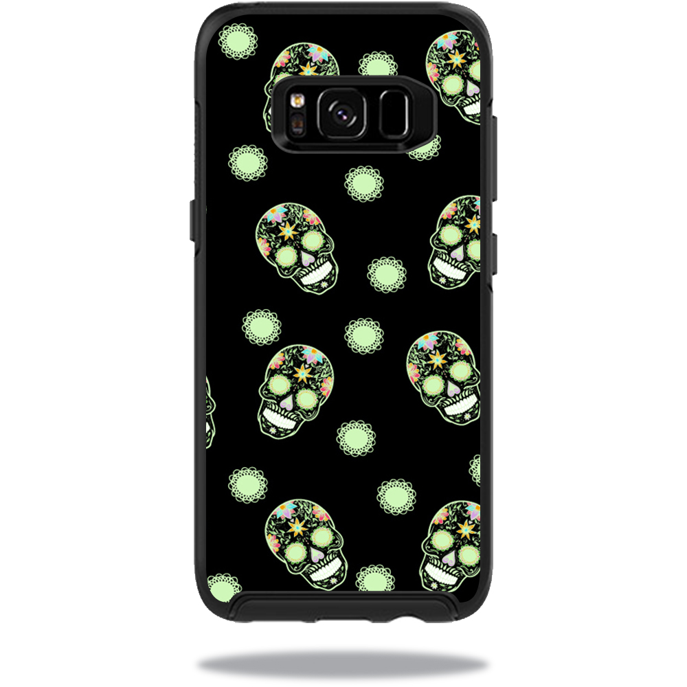 MightySkins Protective Vinyl Skin Decal for OtterBox SymmetrySamsung Galaxy S8 Case sticker wrap cover sticker skins Glowing Skulls