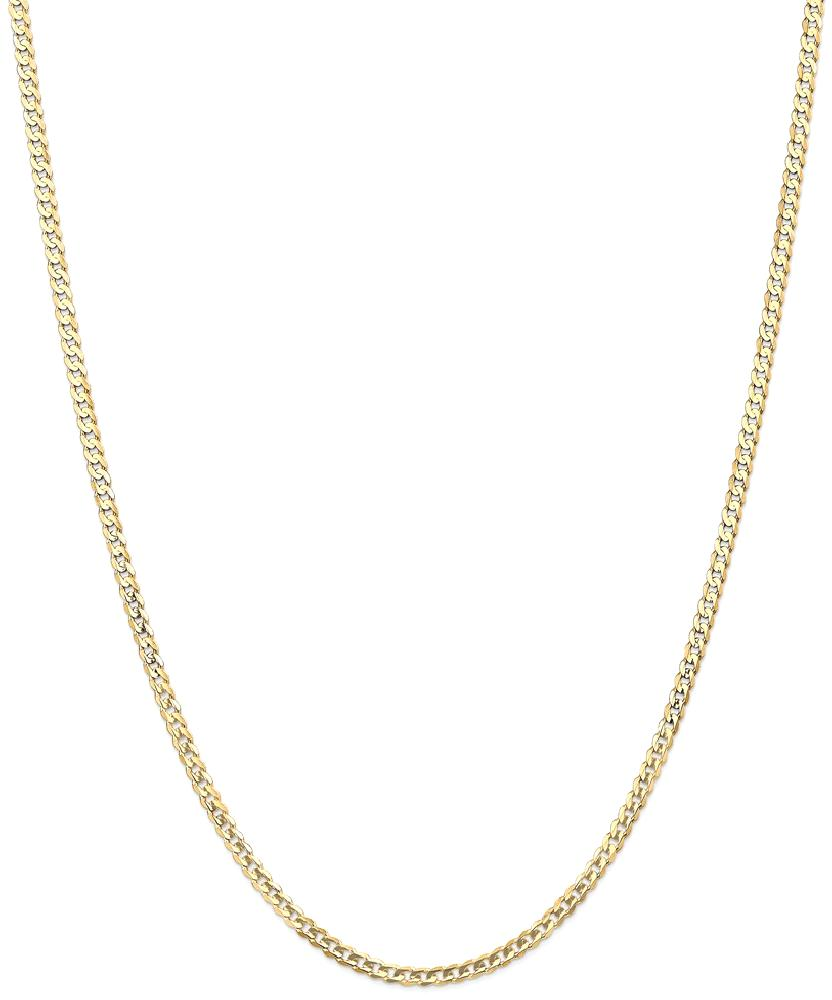 ICE CARATS 14kt Yellow Gold 3mm Concave Link Curb Chain Necklace 18 Inch Pendant Charm Fine Jewelry Ideal Gifts For... by IceCarats Designer Jewelry Gift USA
