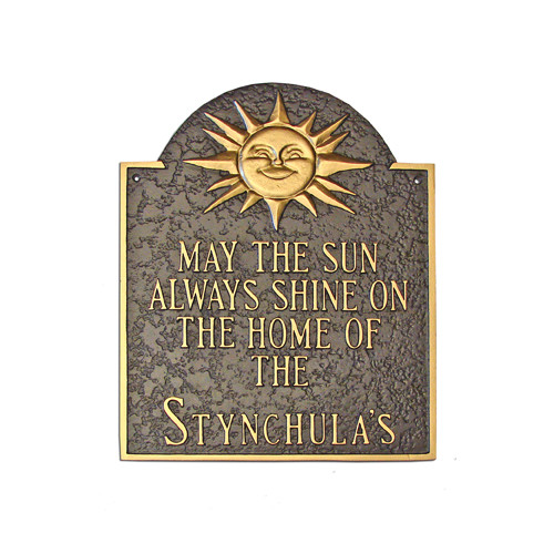 Montague Metal Products Inc. Home of Sunshine Address Plaque