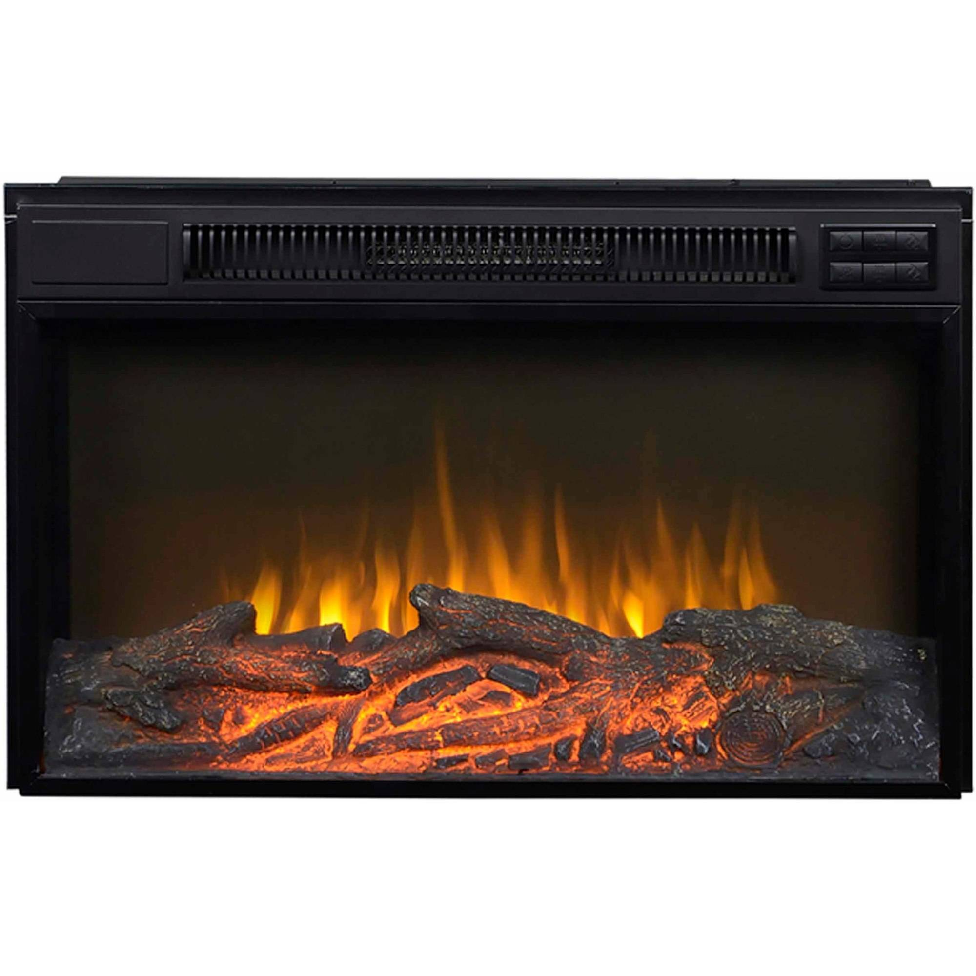 "Flamelux 30"" Wide Firebox Insert, Black"