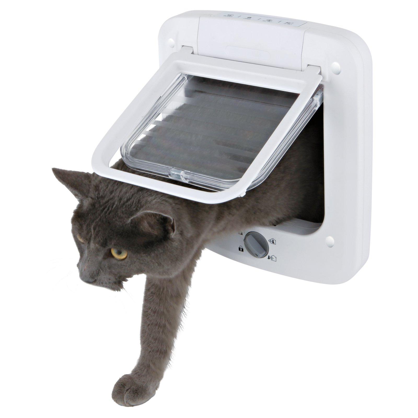 Trixie Pet 4-Way Cat Door with Rotary Lock