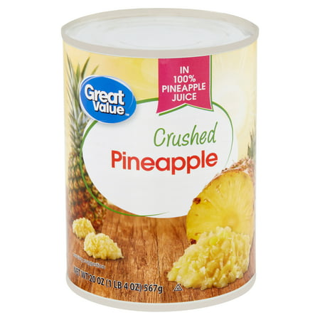 Great Value Crushed Pineapple, 20 oz
