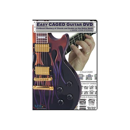 MJS Music Publications Easy CAGED Guitar DVD: Fretboard Mastery of Chords and Scales on the Entire Neck (Guitar Neck Scales)