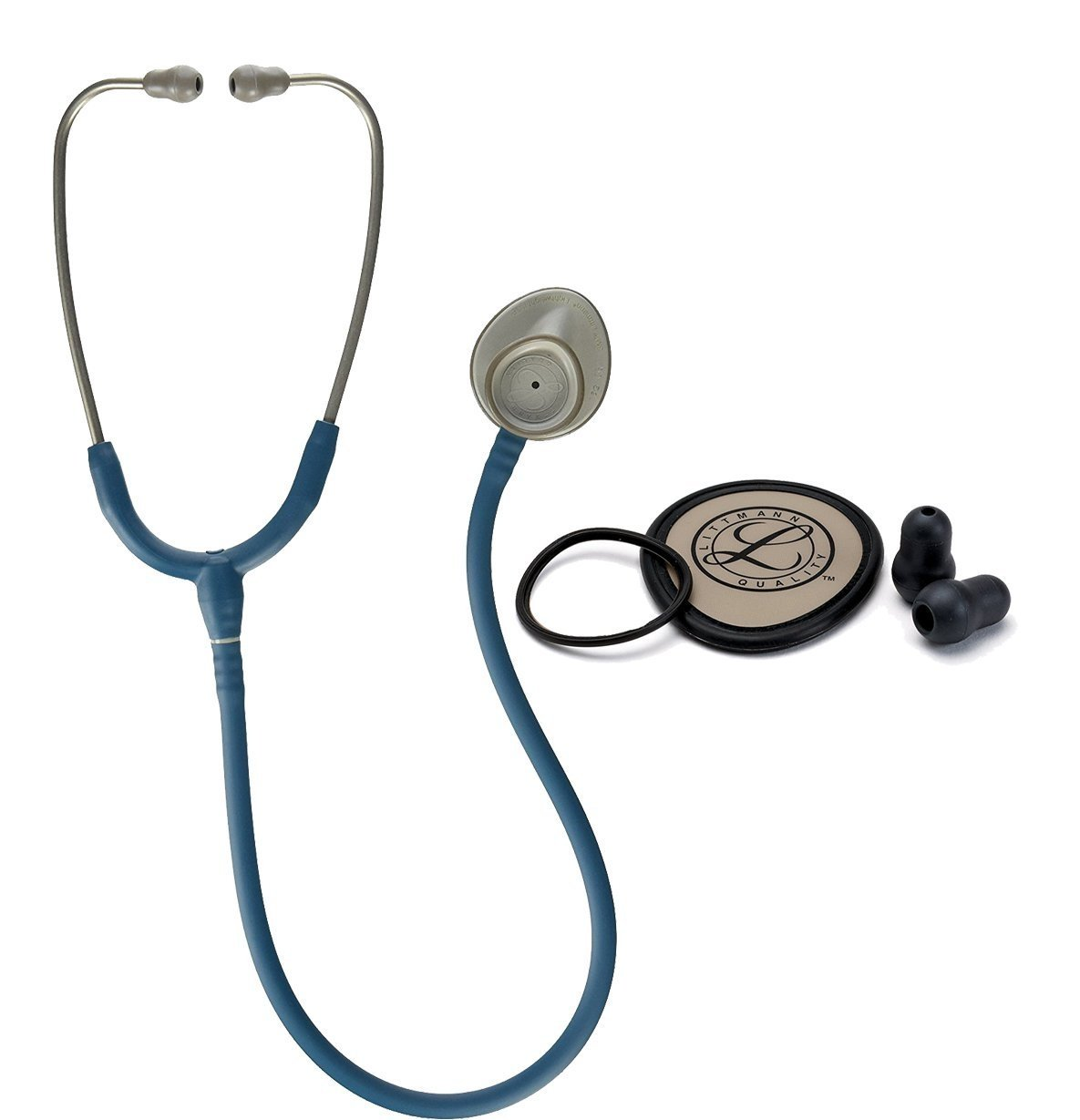 3M Littman 28 Inch Lightweight II S.E. Stethoscope - Caribbean Blue Bundled with Spare Parts Kit - 2 Items Bundled by Maven Gifts