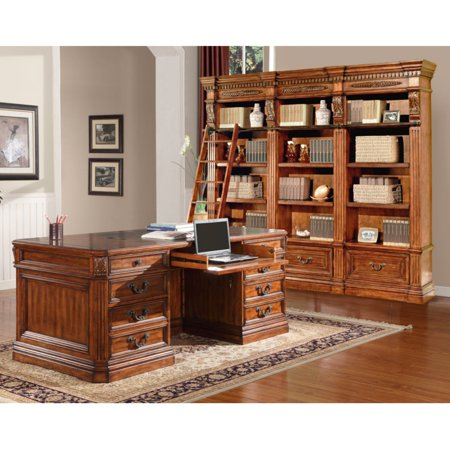 Parker House Grand Manor Granada Library Wall with Executive Desk
