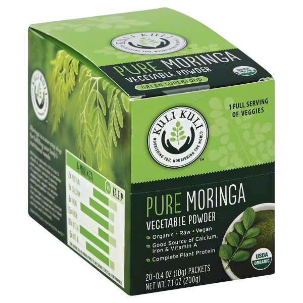 Kuli Kuli Pure Moringa Powder, 0.4 Oz, 20 Ct