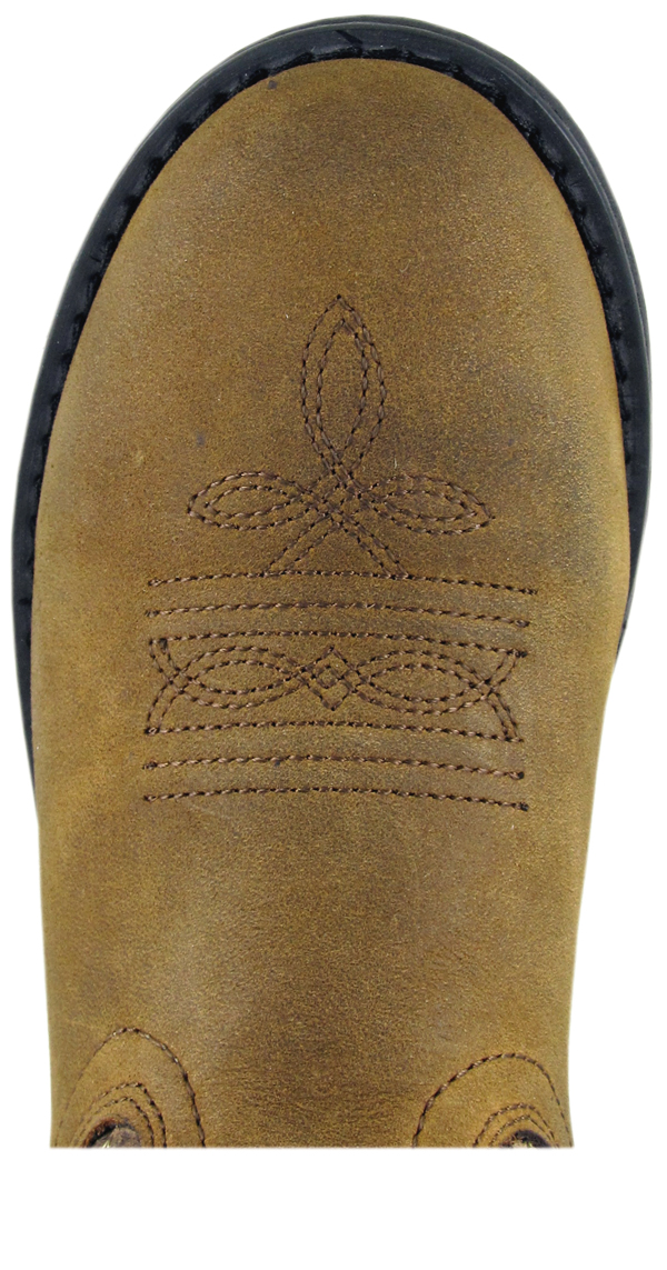 Smoky Mountain Childrens Boys Buffalo Brown Leather Cowboy Boots