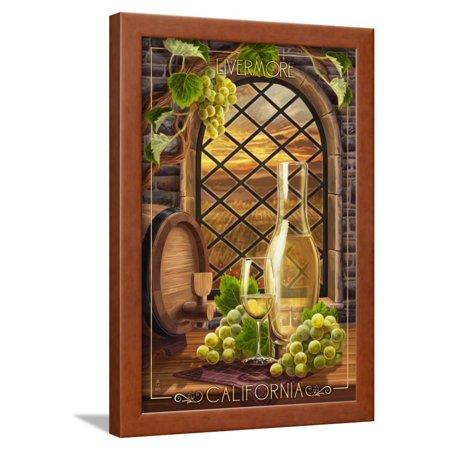 Livermore, California - Chardonnay Framed Print Wall Art By Lantern Press