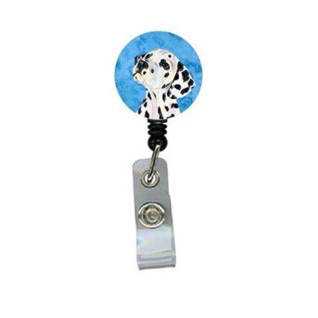Dalmatian Retractable Badge Reel Or Id Holder With Clip - image 1 de 1