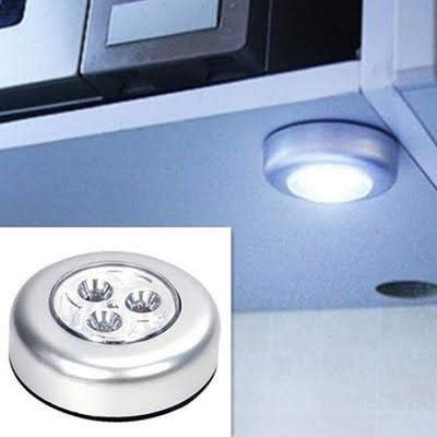 Ceiling Light Mini LED Night Light LED Pat Lamp 3 LEDs Touch Lamp Ceiling Wall/Cabinet Light