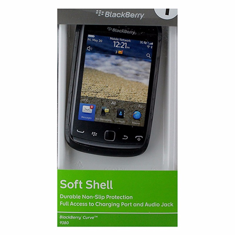 BlackBerry Soft Shell Gel Case for BlackBerry Curve 9380 - Black