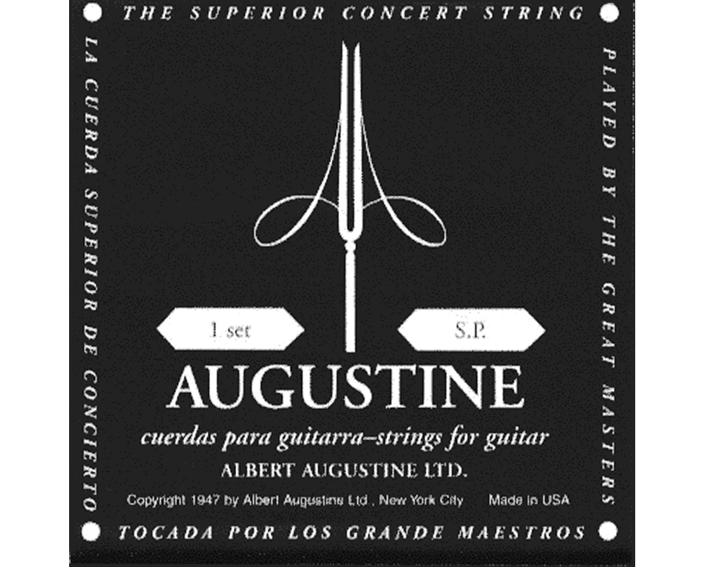 Albert Augustine Silver Black Label Classical Guitar Strings by Albert Augustine