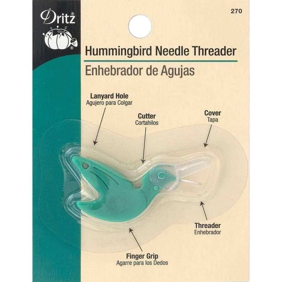 Dritz Hummingbird Needle Threader, Green