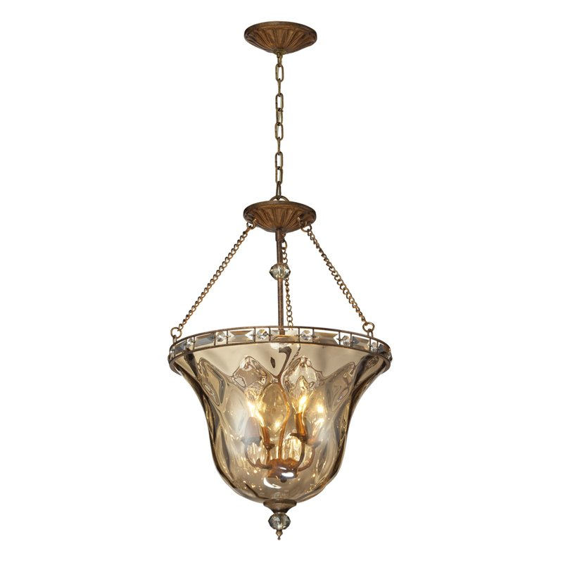 Cheltham 4 Light Pendant In Mocha