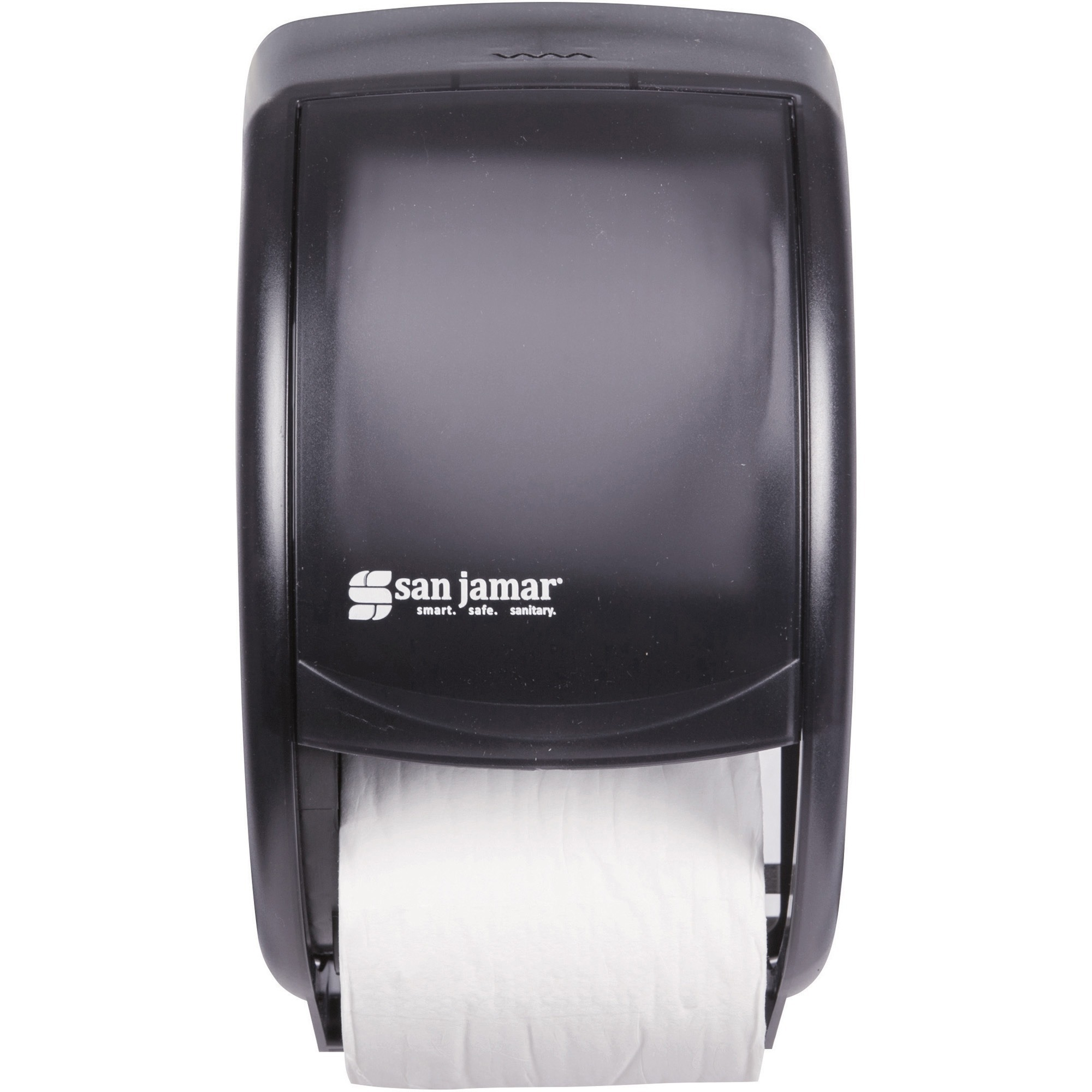 San Jamar, SJMR3500TBK, Duett Standard Bath Tissue Dispenser, 1 Each, Black