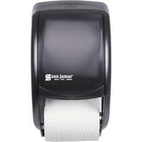 San Jamar, SJMR3500TBK, Duett Standard Bath Tissue Dispenser, 1 Each, Black