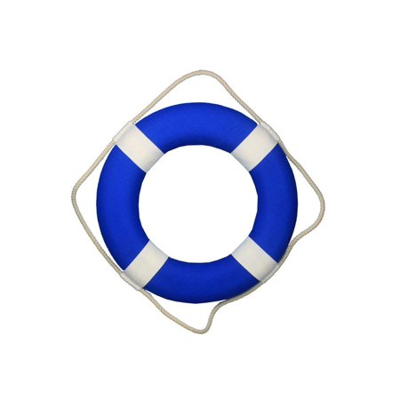 Blue Lifering with White Bands 20