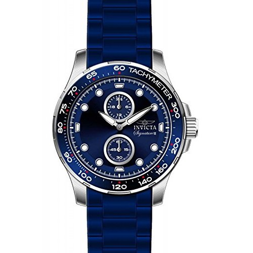 Invicta Signature Blue Dial Blue Ion-plated Mens Watch 7082
